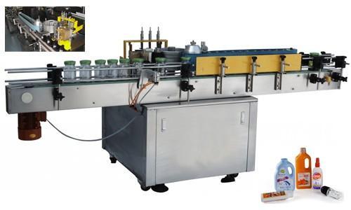 Applicatore automatico di adesivi per bottiglie pressurizzate, etichettatrice automatica da 550 kg