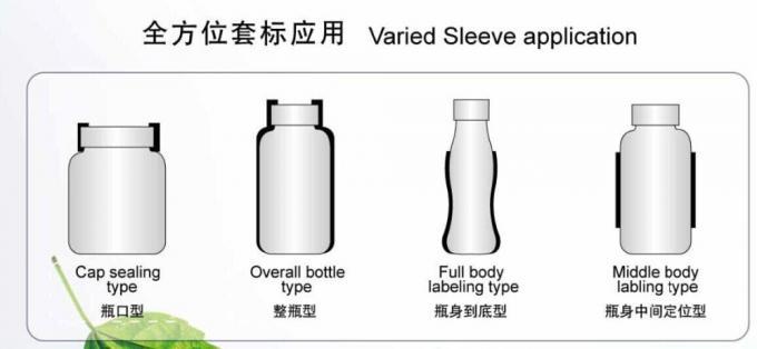 Applicatore di etichette termoretraibile per etichettatrice per manicotti termoretraibili in acciaio inossidabile per bottiglie