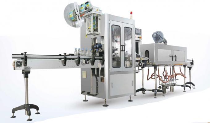 Etichettatrice della manica degli strizzacervelli dell'acqua della sorgente della natura / macchina dell'applicatore della manica degli strizzacervelli
