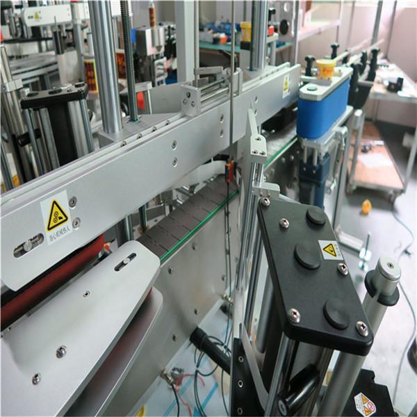 Tre etichettatrici autoadesive lineari davanti / dietro / collo Bevande / Alimenti / Prodotti chimici quotidiani