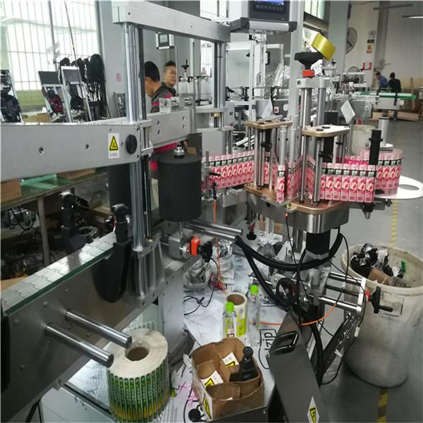 Etichettatrice automatica su due lati per barattoli quadrati piatti