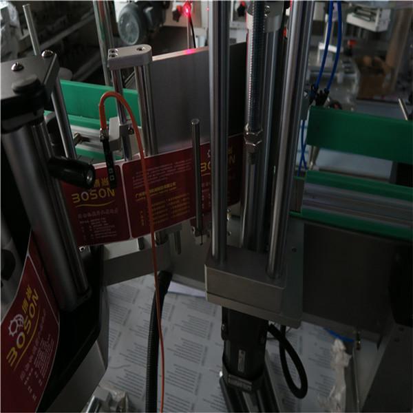 Etichettatrice automatica autoadesiva per shampoo e detergenti