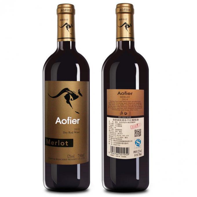 Applicatore di etichette adesive su due / un lato Attrezzatura per etichettatrice di bottiglie di vetro / plastica
