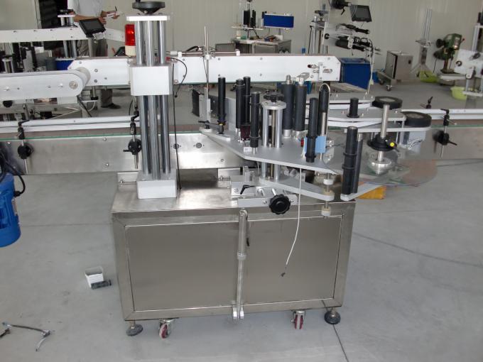 Bottiglie in plastica e vetro Controllo PLC servomotore automatico per etichettatrice a doppio adesivo
