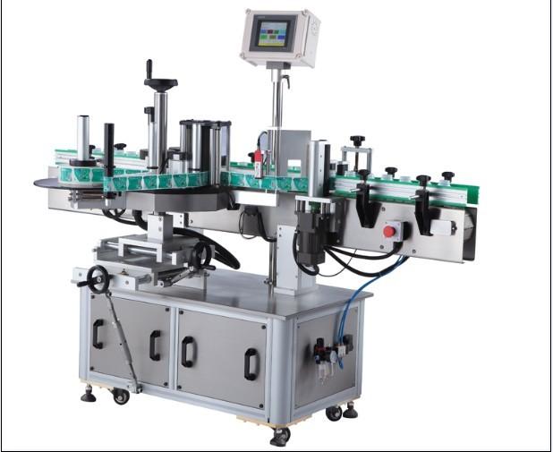 Etichettatrice adesiva per bottiglie rotonde sensibili alla pressione, applicatore di etichette avvolgente verticale