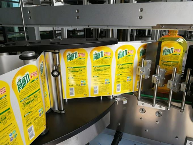 Etichettatrice automatica per bottiglie quadrate a lato singolo / sistema di etichettatura autoadesivo