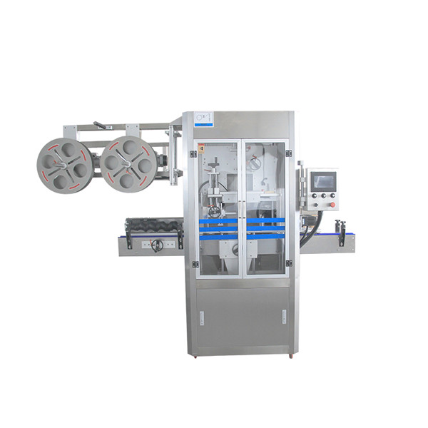 Macchina per applicatore di manicotti termoretraibili in acciaio inossidabile con chiusura a tappo con generatore di vapore