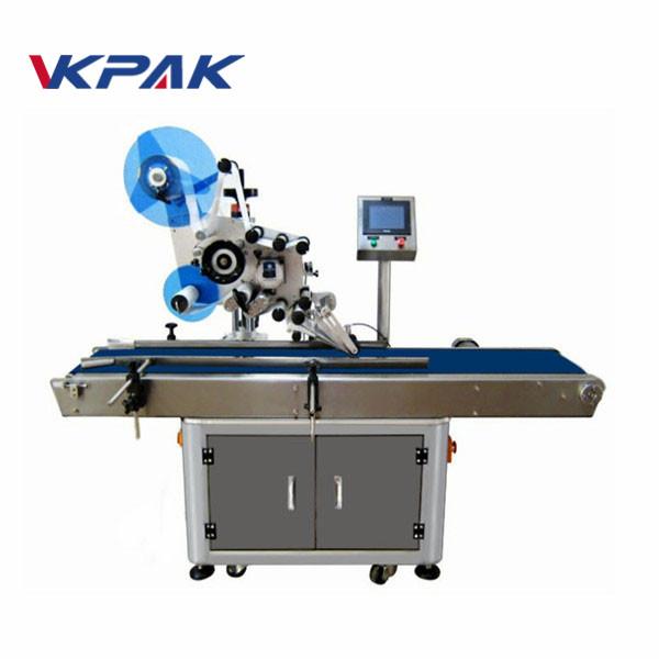 Applicatore di etichette elettrico automatico a superficie piana con piano di lavoro di raccolta