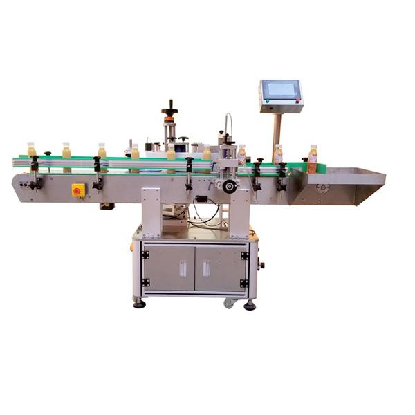 Etichettatrice verticale lineare a quattro etichette adesive