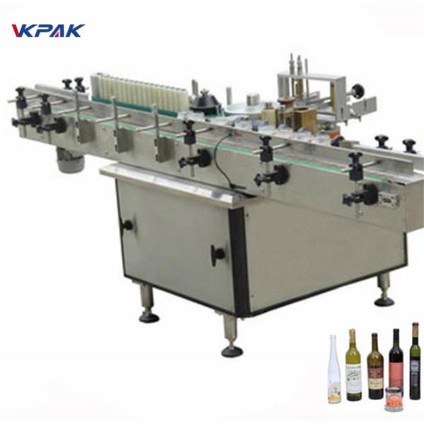 Applicatore di etichette in pasta e colla a freddo automatica per bottiglie diverse