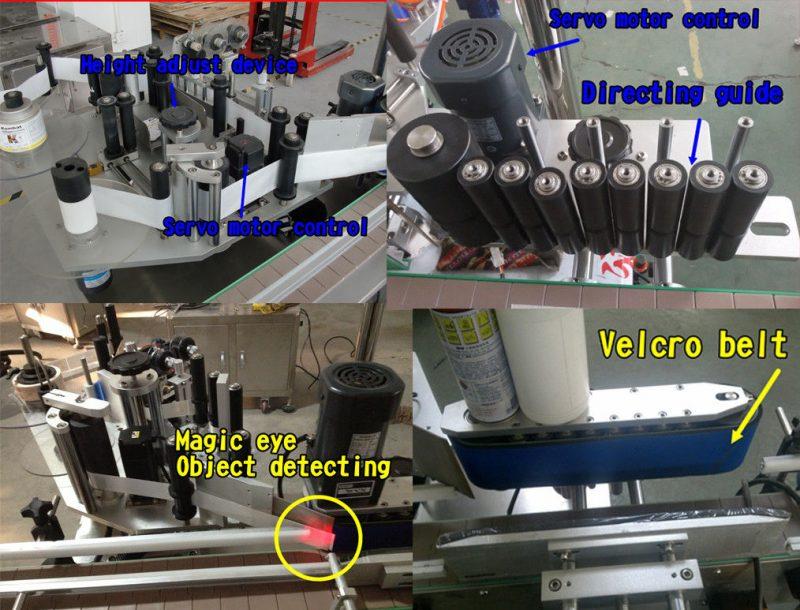 Fornitore di etichette per bottiglie rotonde con adesivo cosmetico per bottiglie / etichettatrice autoadesiva