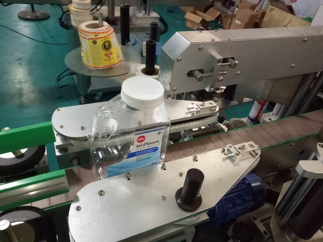 Etichettatrice adesiva per bottiglie quadrate su due lati per prodotti per la cura personale