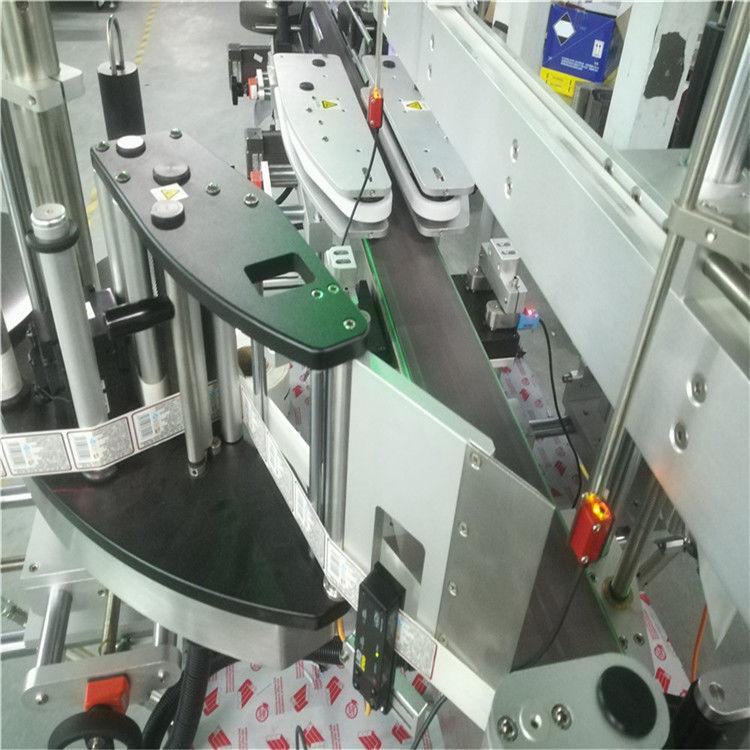 Etichettatrice automatica dell'autoadesivo del doppio lato per la bottiglia piana rotonda quadrata
