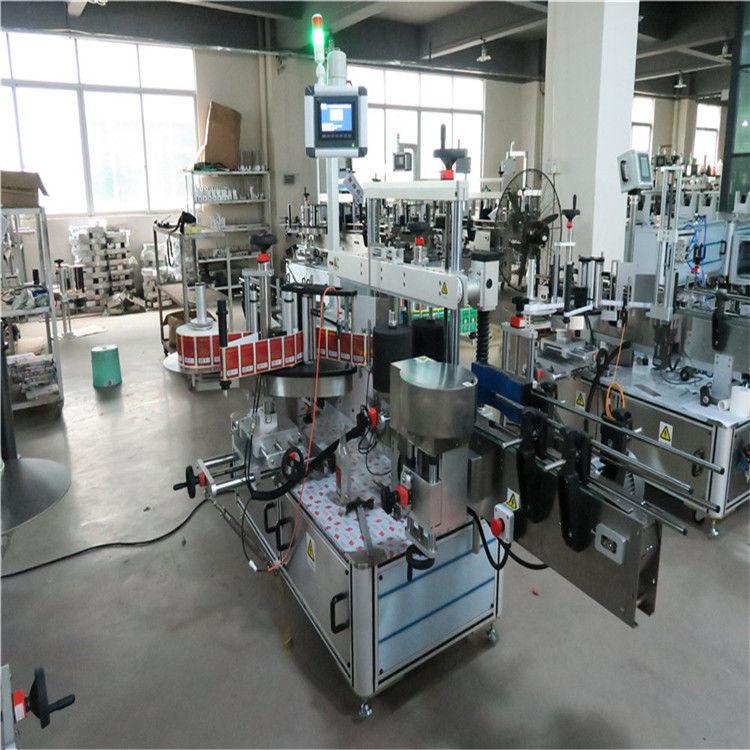 Cina Etichettatrice ad alta velocità della bottiglia piatta due lati per il fornitore di bevande / cosmetici