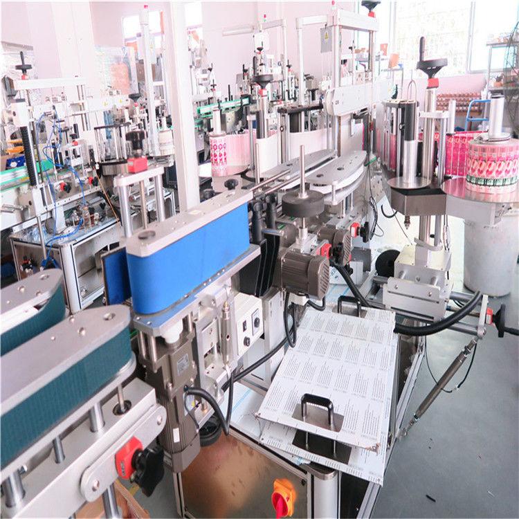 Etichettatrice a doppio lato per bottiglie in Cina per vari fornitori di vasi per bottiglie quadrati piatti
