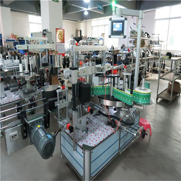 Cina etichettatrice automatica per bottiglie quadrate con applicatore di etichette adesive su doppi lati / fornitore su un lato