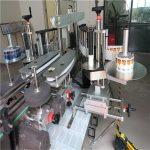 Applicatore di etichette adesive per bottiglie rotonde laterali singole / doppie