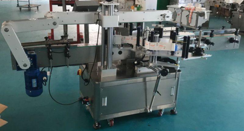Cina etichettatrice automatica per bottiglie di vetro per bottiglie piatte, fornitore di macchine per etichette adesive
