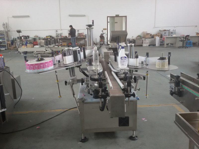 Cina Bottiglie di plastica e vetro Fornitore di servomotori per etichettatrici automatiche a doppio lato con controllo PLC