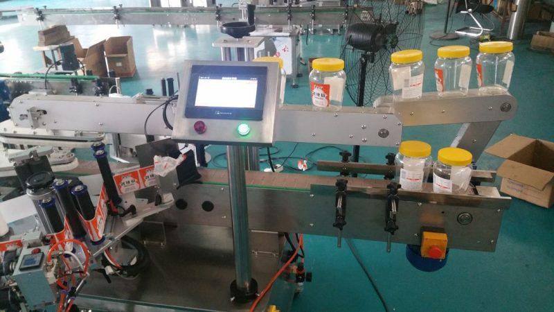 Cina Macchina automatica per etichettatura con doppio adesivo laterale per bottiglia rotonda per fornitore di bottiglie di birra