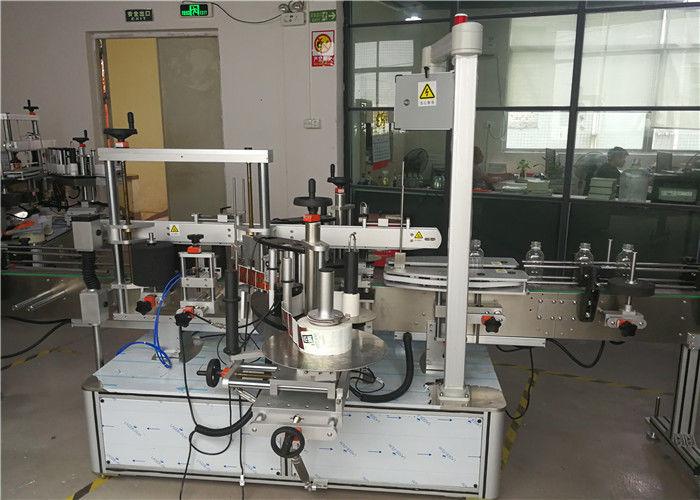 Cina anteriore / posteriore su applicatore di etichette per bottiglie non rotonde o piatte, fornitore di apparecchiature per l'etichettatura di bottiglie