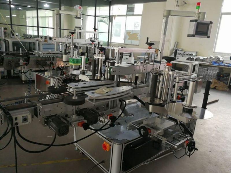 Cina Sistema di etichettatura a doppia guarnizione ad angolo ad alta velocità per fornitore di cartoni farmaceutici