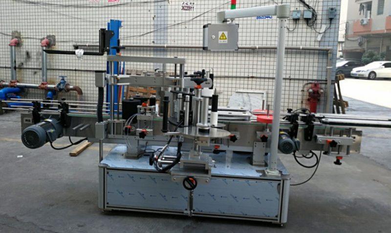 Cina Etichettatrice automatica per bottiglie ovali ellittiche con doppio adesivo laterale 1200W fornitore