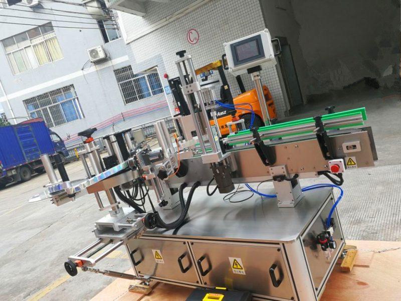 Cina Etichettatrice adesiva per bottiglie rotonde sensibili alla pressione, fornitore di applicatori per etichette avvolgenti verticali